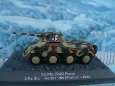 1/72 Altaya Military Magazine Sd.Kfz.234/2 Puma 2.Pz.Div. France  1944