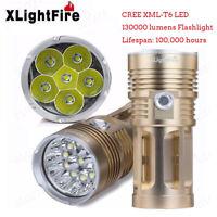 XLightFire 13000LM 6 x CREE XM-L T6 LED Hunting Flashlight 4 x 18650 Lamp Torch