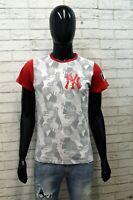 Maglia Uomo Majestic Taglia XS Maglietta T-shirt Man Polo Cotone Manica Corta