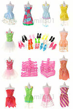 36 Pieces of Barbie Doll Dresses Clothes Shoes Bundle Lot 12.15