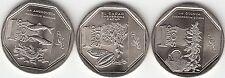 "Peru 3 coins 1 Nuevo Sol 2013 Unc New series ""Natural Resources of Peru"""