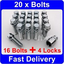 20 x ALLOY WHEEL BOLTS & LOCKS FOR MERCEDES BENZ G CLASS WAGEN (W461 W463) [9Q]