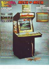 BUNDRA GAME NECK N NECK HORSE RACE NOVELTY ARCADE GAME SALES FLYER BROCHURE 1992