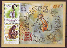 Neuseeland 2004 Year of the Monkey Miniblatt gestempelt