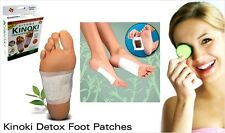 10 x KINOKI DETOX FOOT PAD patch Rimuovi dannose tossine corpo salute Boxed UK