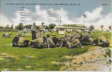 Machine Gun Instructions Camp Wheeler GA Vintage postcard postally used in 1943