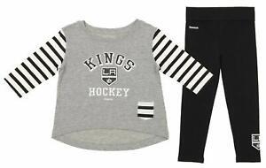 "Reebok NHL Girl's Los Angeles Kings ""Little Big Girl"" Pant Set"