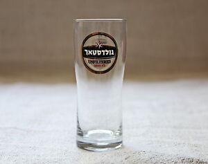 GOLDSTAR Gold Star Israel Israeli Unfiltered Beer 0.3L/10.14oz Clear Glass NEW