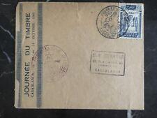 1945 Casablanca Morocco First Day Cover Fdc Morocco Philatelic