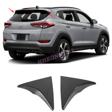 For Hyundai Tucson 2016-2018 ABS Carbon Style Rear Window Triangle Cover Trim