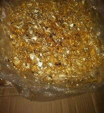 50 Grams Beautiful Foil Gold Leaf Flakes 24k gold look WOW !