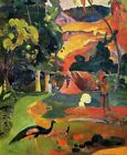 Landscape with Peacocks by Paul Gauguin Fine Art Giclee Print CANVAS Small 8x10