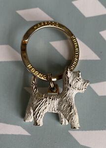 Rare Harrods Knightsbridge London Department Store 3D Westie Key Chain Ring