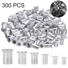 300pcs Aluminum Rivet Nut Rivnut Nutsert Kit 150pcs Metric 150pcs Sae Tool