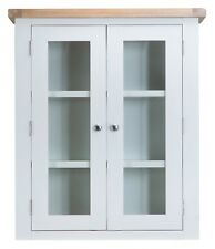 CANTERBURY WHITE PAINTED OAK SMALL DRESSER TOP / GLAZED DISPLAY CABINET