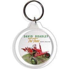 DAVID BRADLEY RED TRI TRAC GARDEN LAWN TRACTOR KEY FOB RING KEYCHAIN KEYRING