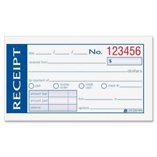 Adams Write 'n Stick Money/Rent Receipt Book, 2-Part, 2-3/4 x 5-3/8 Inches, 50