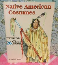 A Vintage 1994 Native American Costumes Paper Doll Playbook