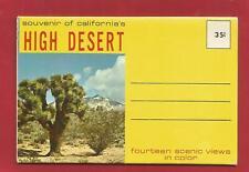 CALIFORNIA'S HIGH DESERT - SCENIC FOLDER - 14 VIEWS IN NATURAL COLOR (1960's)