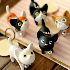 Cat Cartoon Keyring Bell Accessories Trinket Rotatable Keychain Key Chains JNHB