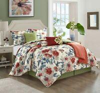 Lanco Natalia 7-Piece Reversible Comforter Bedding Set Queen