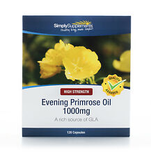 Evening Primrose Oil 1000mg  120 Capsules | Cold Pressed GLA | Hormonal Balance