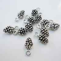 Lot 20Pcs Charm Pine Cone Antique Metal Pendant Vintage Tibetan Silver DIY Gifts