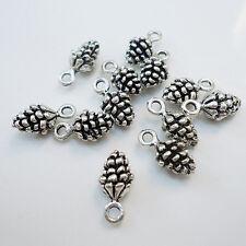 Lot 20Pcs Charm Pine Cone Antique Metal Pendant Vintage Tibetan Silver DIY Beads