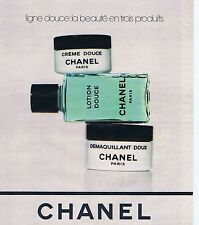 PUBLICITE ADVERTISING 045 1978 CHANEL maquillage démaquillant lotion