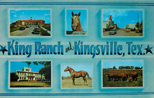 KINGSVILLE, TEXAS - KING RANCH - MISPLACED BAVERY - MULTI-VIEW VINTAGE POSTCARD