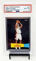 2007 Topps Chrome 1957 Variation Lakers LEBRON JAMES Basketball Card PSA 8 NM-MT