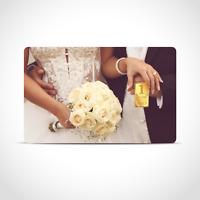 Gold Geschenkkarte / Geschenkidee / 1 Gr. Barren / Glückwunsch Hochzeit Trauung