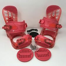 NEW! K2 Youth Kat Berry Pink Snowboard Binding Medium Boot size 3-7 (CM 21-25)