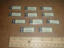 Massachusetts DAV miniature license plate keychain car tag lot 11 1969-1971 New