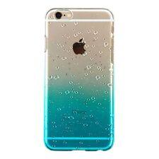 iPhone 6s Plus/6 Plus Transparent Gradient Water Drop Back Case Cover - Blue