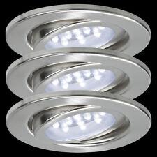 Nice Price 3786 LED Einbauleuchten 3 X 0,8W Eisen geb. 105mm Ø Spots Strahler