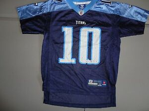 Blue #10 Vince Young Tennessee Titans NFL Football Jersey Youth M Free US Ship