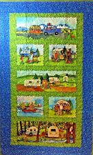 """Road Trip Quilt Quilters & RVers 31""""x50"""" Wall Hanging-Throw"""