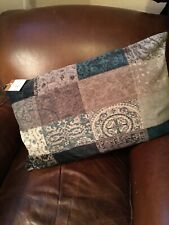 Pottery Barn Cora Patchwork Velvet 16 x 26 Lumbar Pillow Cover Amazing!!