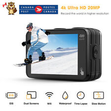 Campark V40 20MP Action Camera Dual Touch Screen 4K WiFi EIS Remote Control CA