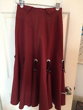 Women's Circle T By Marilyn Lenox Rodeo Cowgirl Western Skirt Size 5/6