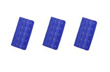 1 lot de 3 rallonges extensions pour soutien gorge 5 crochets - bleu foncé