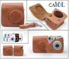 Brown Leather Camera Case Bag Cover For Fujifilm Fuji Instax Mini 7 Mini 7s
