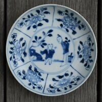 Antique Chinese Porcelain saucer in Blue & White early 18th century #175