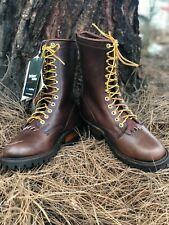 Whites Hathorn Explorer Brown Boots Leather Packer Logger Woodland Mens Sz 6 EE