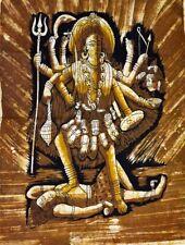 Goddess Kali Batik Tapestry Cotton Printed Wall Hanging 44 X 30 Inches (Large)