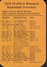 1978-79 UCLA Women's Basketball Schedule 101917jh