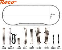Roco H0e 31033-5 Schmalspur-Gleisset 36-teilig mit 2 Weichen - NEU