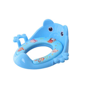 Toddler Kids Child Soft Padded Safe  Toilet Seat With Handles