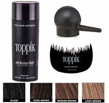 TOPPIK Set Hair Building Fibers 27.5g + SPRAY APPLICATOR Pump + Optimizer Comb..